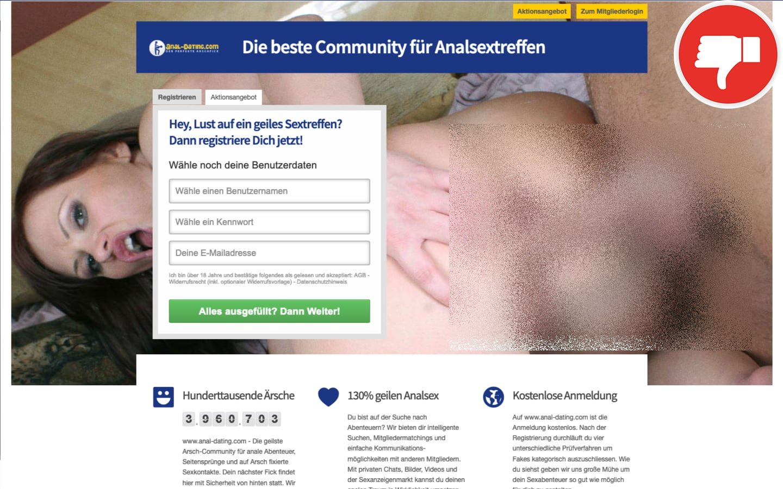 Anal-Dating.com Erfahrungen Abzocke