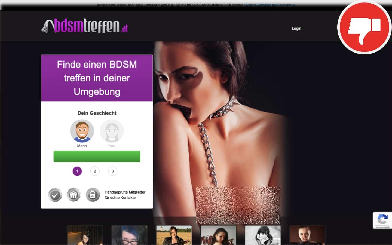 Testbericht BDSMTreffen.at Abzocke