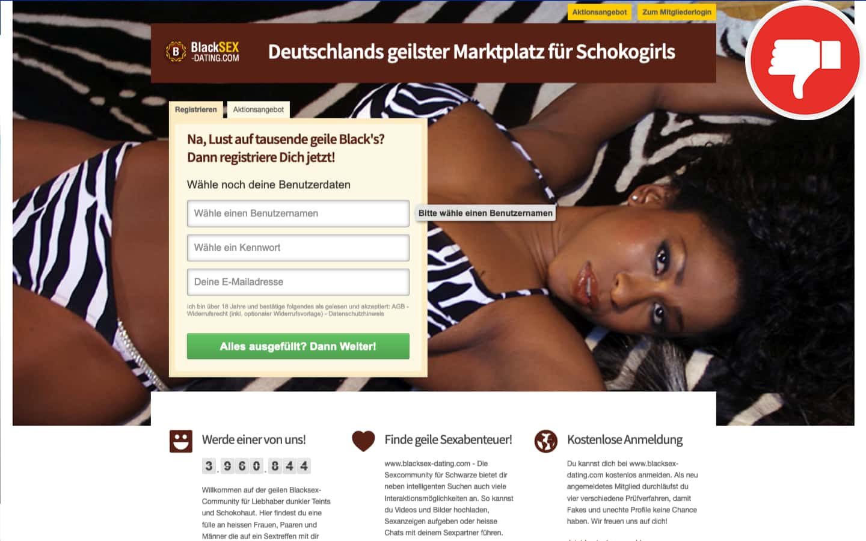 BlackSex-Dating.com Erfahrungen Abzocke