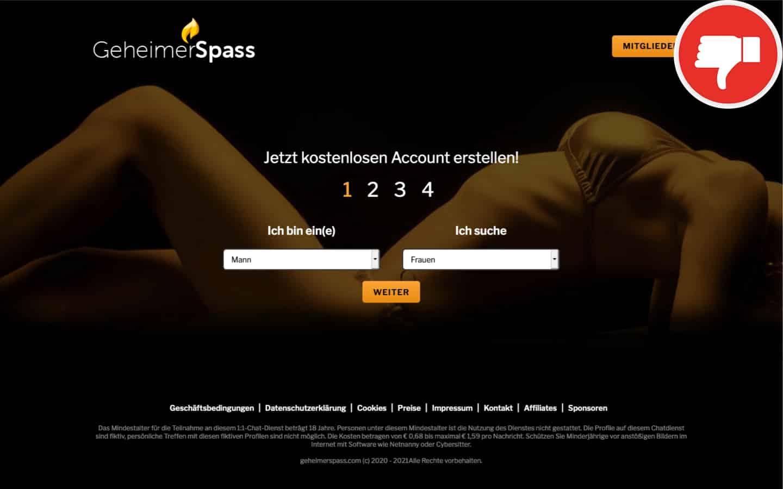 GeheimerSpass.com Erfahrungen Abzocke