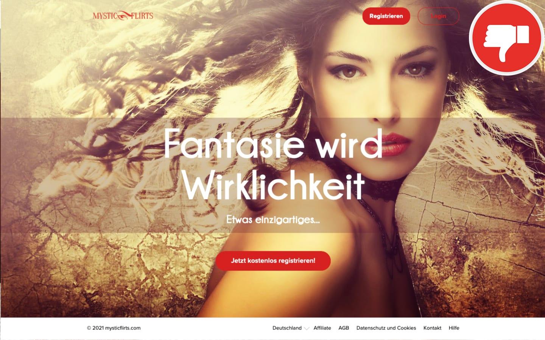 MysticFlirts.com Erfahrungen Abzocke