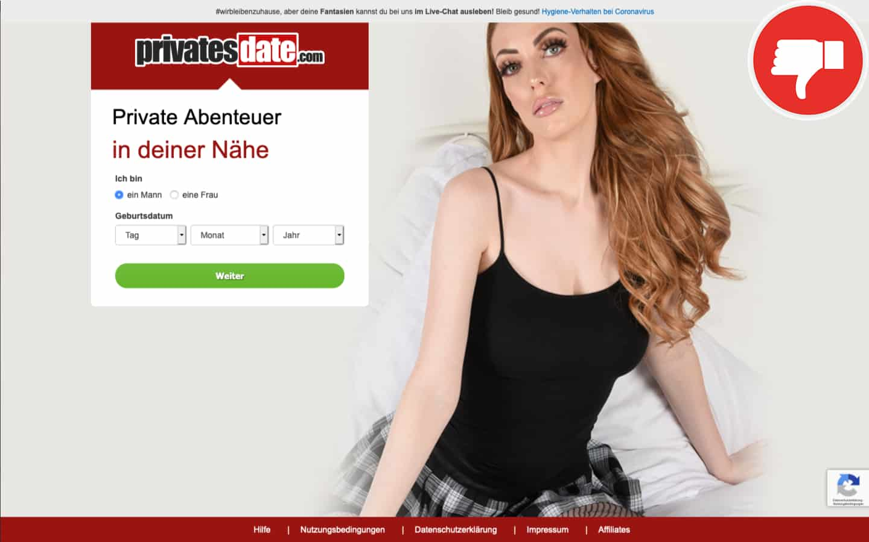PrivatesDate.com Erfahrungen Abzocke