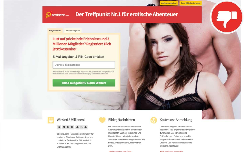 SexKiste.com Erfahrungen Abzocke