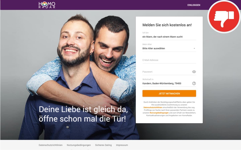HomoRadar.de Erfahrungen Abzocke