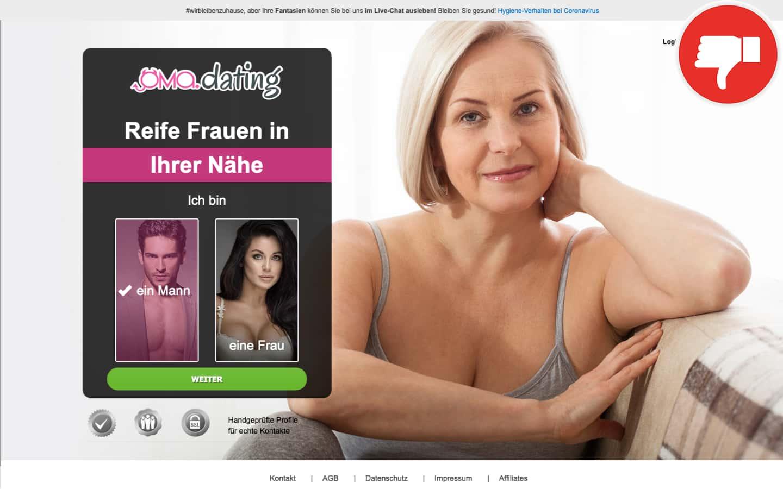 Testbericht Oma.dating Abzocke