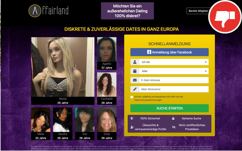 Testbericht Affairland.com Abzocke