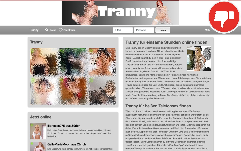 Tranny.ch Erfahrungen Abzocke