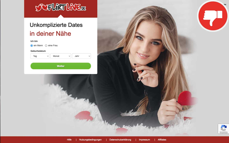 FlirtLive.de Erfahrungen Abzocke