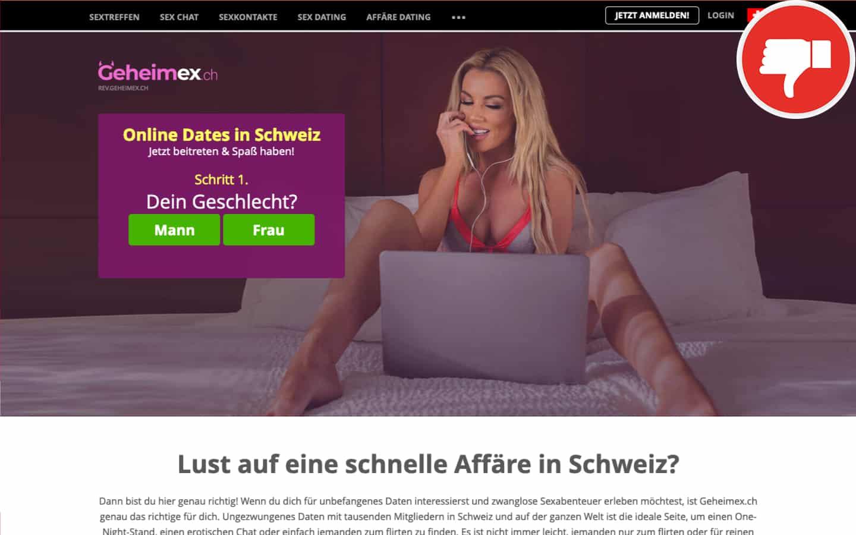 GeheimEx.ch Erfahrungen Abzocke