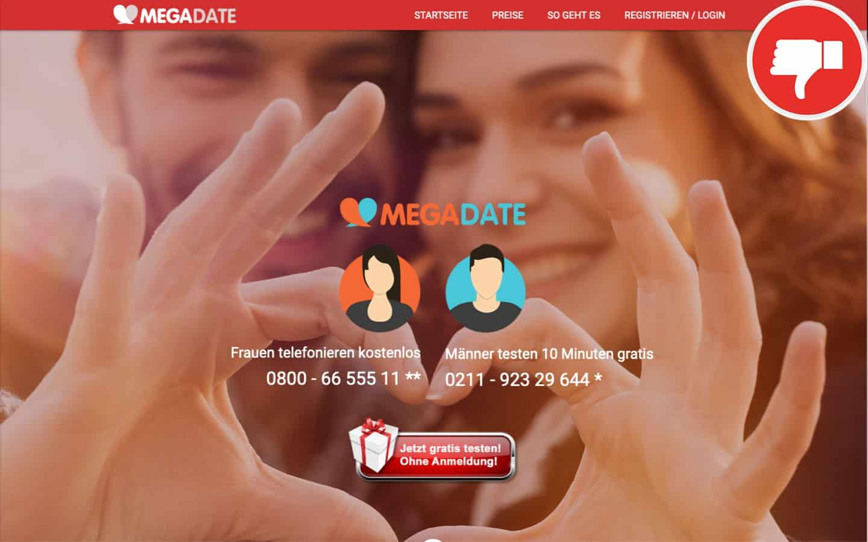 MegaDate.de Erfahrungen Abzocke