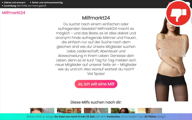 MilfMarkt24.com Erfahrungen Abzocke