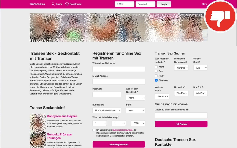 Transen-Sex.com Erfahrungen Abzocke