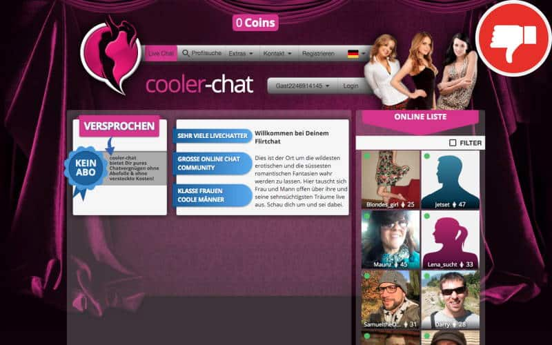 Cooler-Chat.com Erfahrungen Abzocke
