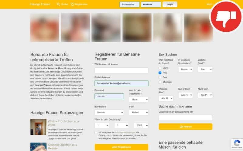HaarigeFrauen.com Erfahrungen Abzocke
