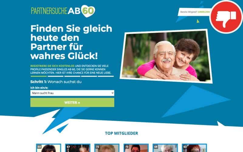 Testbericht PartnersucheAb60.de Abzocke