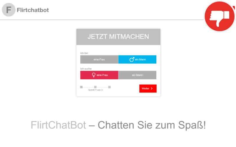 FlirtChatbot.com Erfahrungen Abzocke