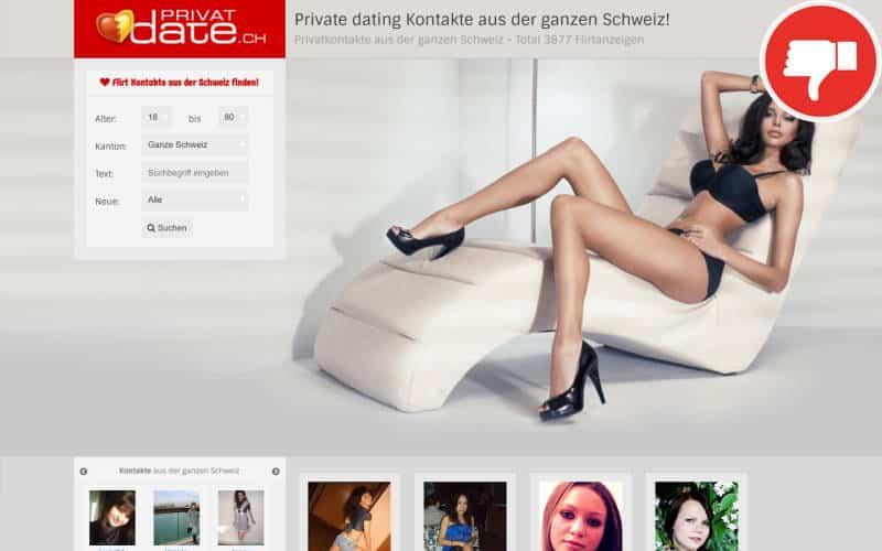Testbericht PrivatDate.ch Abzocke