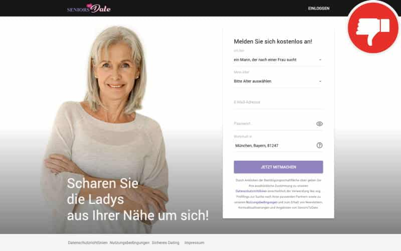 SeniorsToDate.com Erfahrungen Abzocke