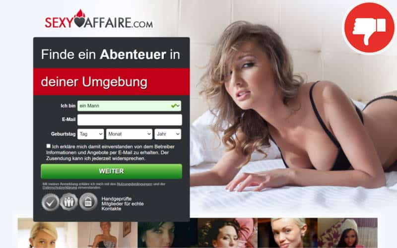 SexyAffaire.com Erfahrungen Abzocke