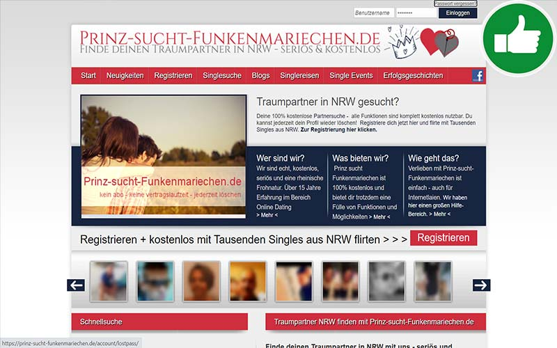 Testbericht Prinz Sucht Funkenmariechen.de Abzocke